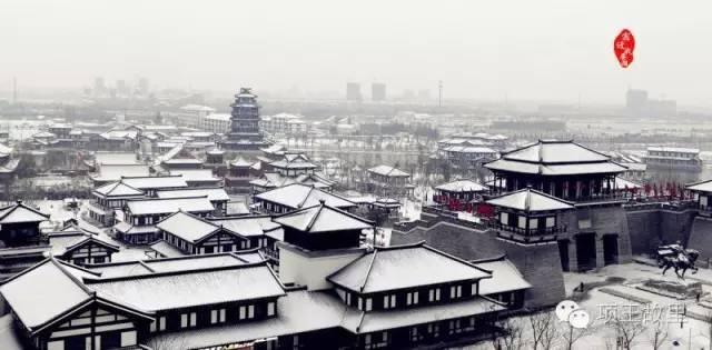 最美不过初雪,宿迁的项王故里就变成了西楚古城_2
