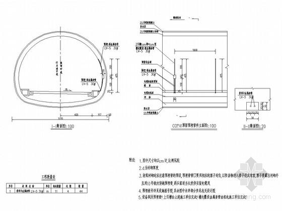 隧道设备设施预留孔全套设计图