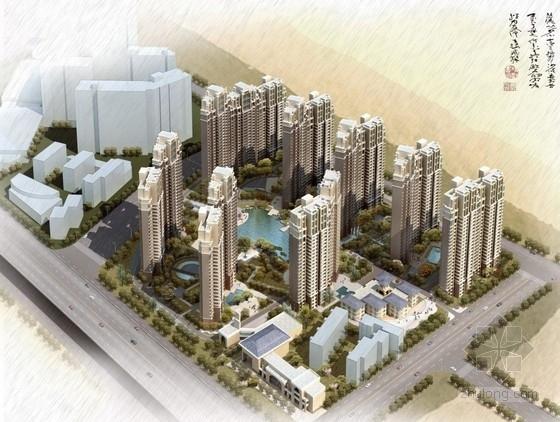 [江苏]欧式风格高层住宅区规划及单体设计方案文本