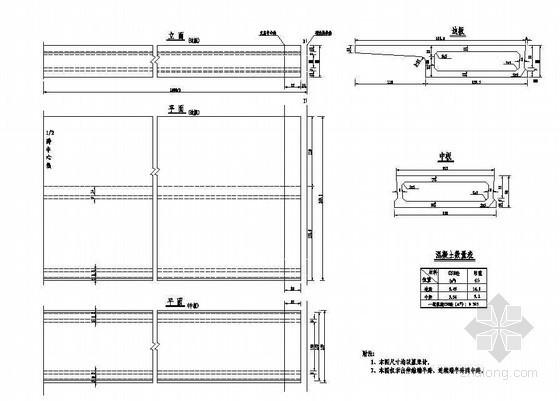 杭新景高速公路拱肋式大桥10m中跨、端跨空心板一般构造节点详图设计