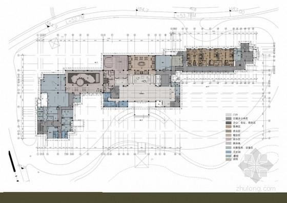 某白色中式餐饮空间室内装饰方案图