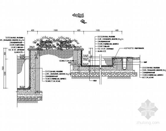 [东莞]居住区综合楼广场园林景观工程施工图-