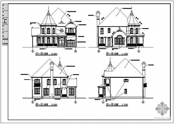 某两层欧式别墅建筑结构设计图