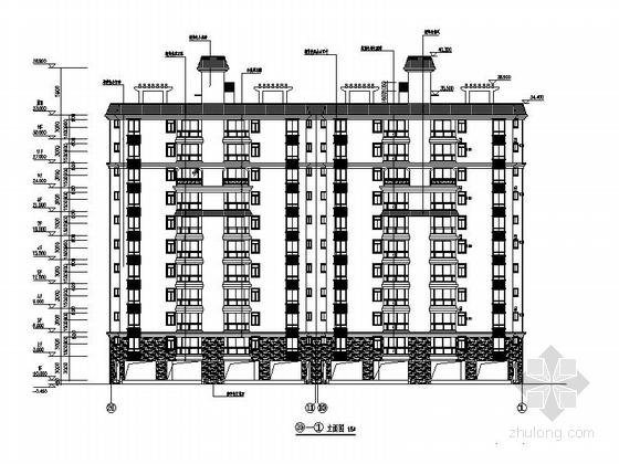 [海南]现代风格高层保障性住房建筑规划设计施工图-现代风格高层保障性住房建筑立面图