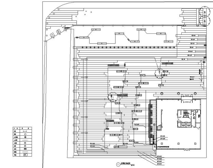 [北京]科技商务园营销体验区景观施工图(LEED黄金认证项目)-室外照明布置图