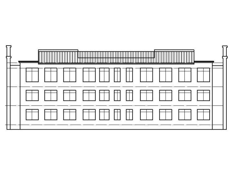 [宁夏]三层坡屋顶石材幕墙综合性办公楼建筑施工图(全专业图纸)