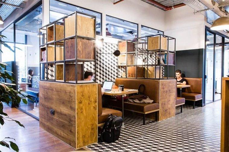 咖啡厅风格的联合办公空间-帕丁顿区WEWORK联合办公室室内实景图 (9)