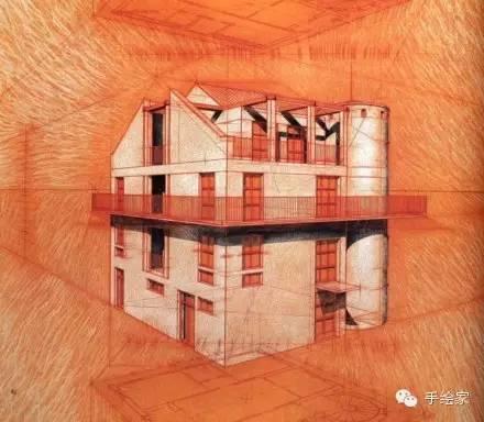 百年经典建筑设计手绘图_62