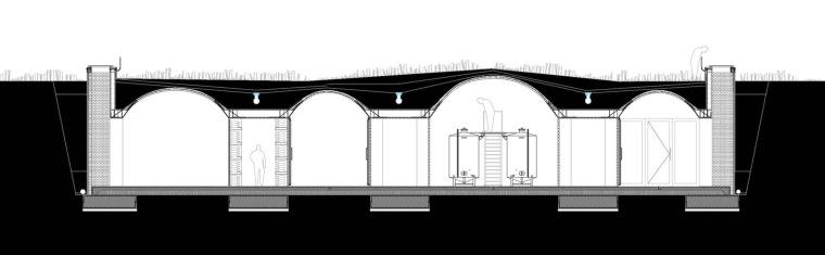 西班牙双曲线拱门形式Mont-Ras酒庄剖面图(8)