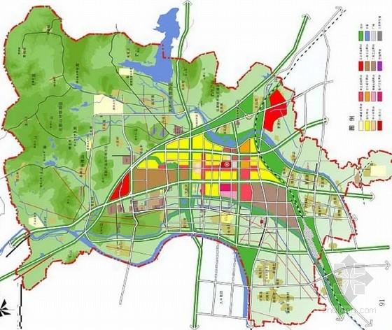 [山东]空间重构新城景观规划设计方案-总平面图