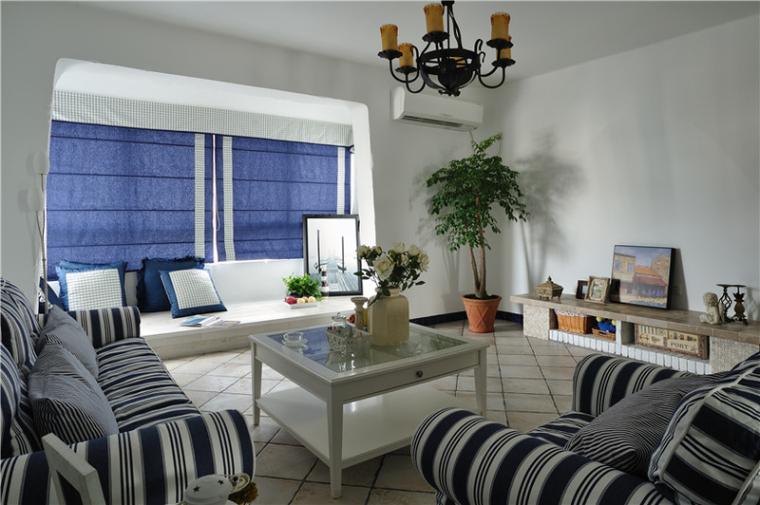 喜欢地中海风格的可以看看,复式别墅装修