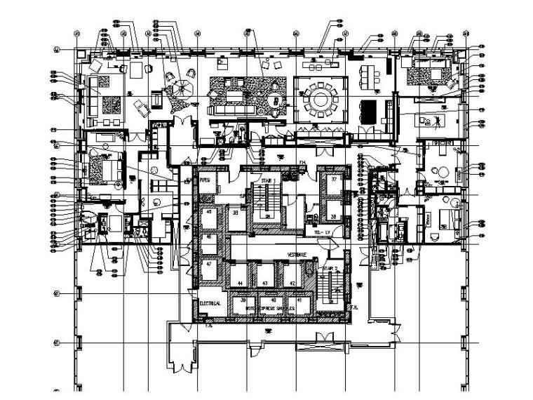 [北京]现代简约豪华多功能公寓室内设计施工图(含效果图)