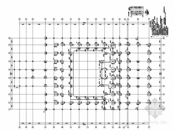 [天津]地上三层框架结构体育馆结构施工图(倒三角桁架结构大跨度屋盖)