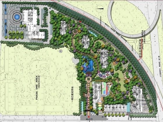 [济南]复合型精品住宅小区景观规划设计方案