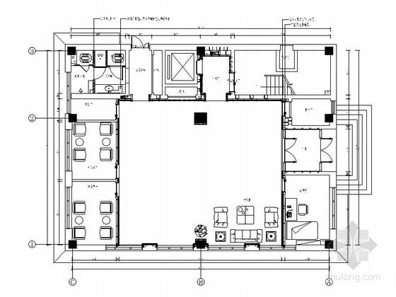 [沈阳]外商独资控股集团现代风格办公楼装修施工图(含效果)