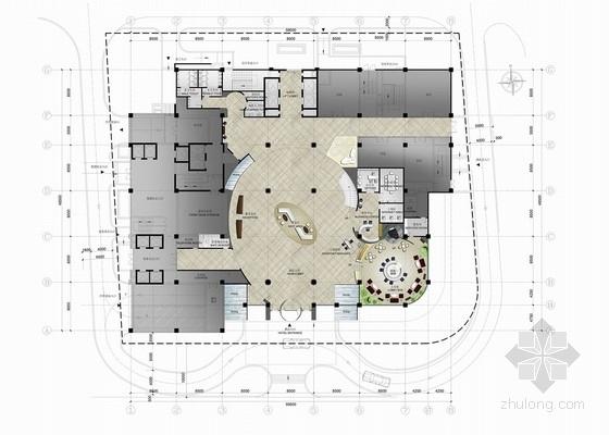 [广东]新城广场现代风格四星级宾馆室内装修设计方案-[广东]知名地产广场现代风格四星级宾馆室内装修设计方案