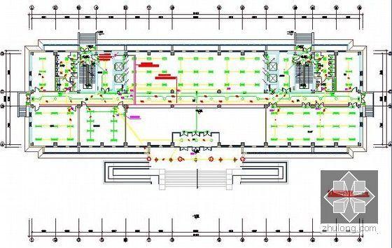 [北京]教育实习基地项目建设工程施工招标文件及投标文件(附全套图纸报价施组)-首层照明平面图