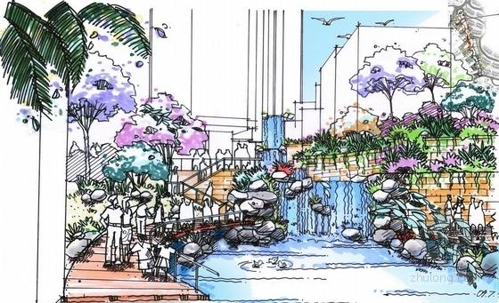 花园溪谷效果图