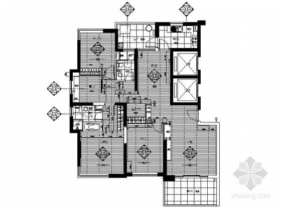 [上海]现代风格酒店式公寓样板房装修施工图
