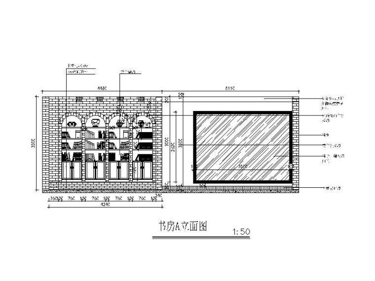 全套地中海田园风格样板房CAD施工图(含效果图)_4