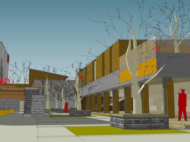 现代主义风格,3层商业街街模型最终设计(SU模型)-20150902_140135_355