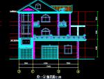 三层别墅建筑图纸