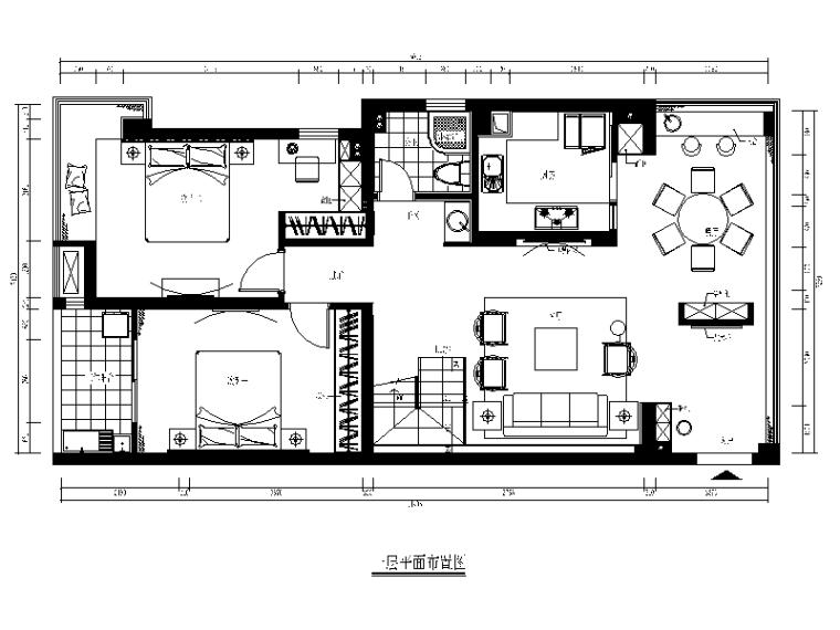 [福建]新中式风格别墅设计施工图(含效果图)