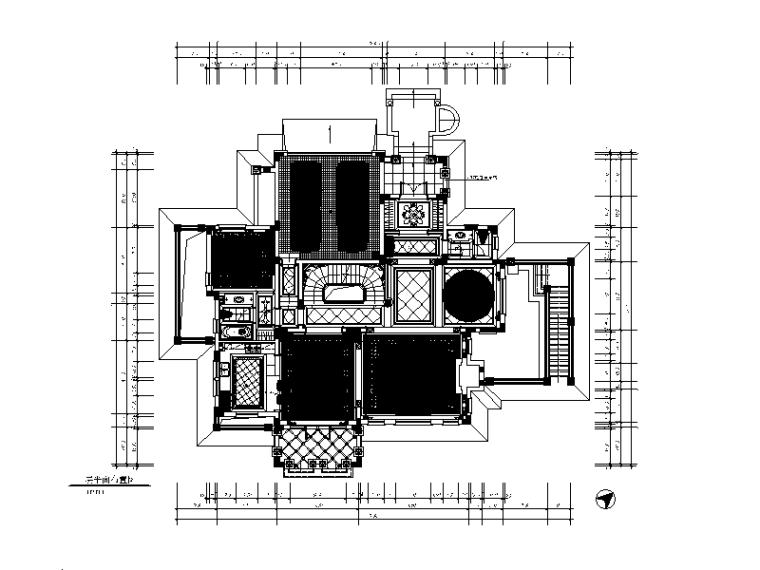 [山东]全套别墅样板房设计CAD施工图