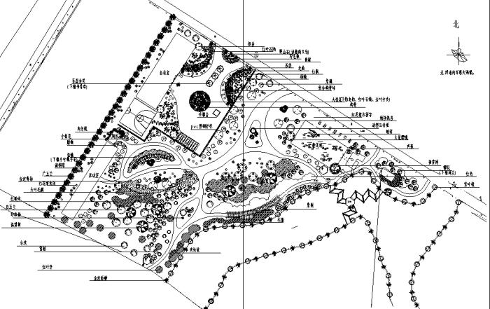 园林各类绿地景观设计CAD平面图346套(赠送CAD素材图库)-某公园绿化平面图
