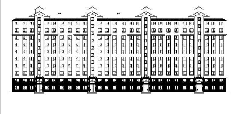 [宁夏]高层新中式住宅小区建筑施工图(含商业、会所及地下车库)