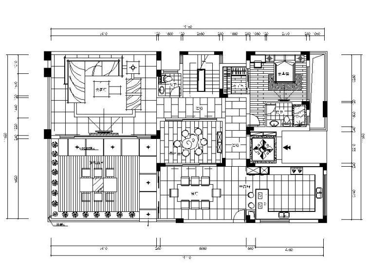 豪华别墅室内精装修设计施工图