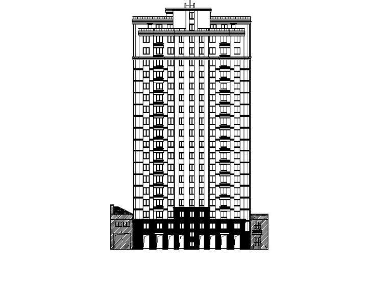 [宁夏]高层塔式商住小区建筑施工图(含多栋建筑及200多张图纸)