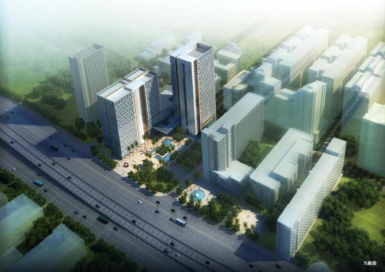 [廣東]超高層現代風格塔式辦公樓及裙房建筑設計方案文本