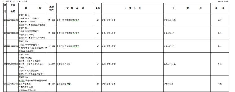 儿园工程量建房、例子v例子图纸(农村、清单)-工计算图纸清单10/13图片