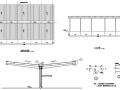 悬挑钢结构雨蓬(车篷)施工图
