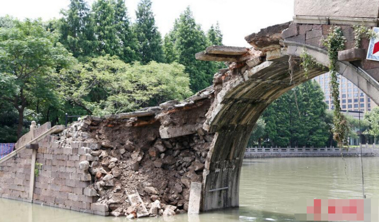 杭州一座247年古桥发生坍塌_3