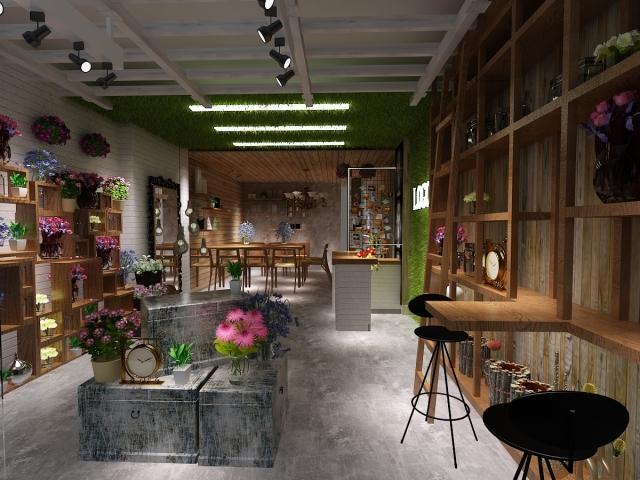 花店所处位置,招牌设计,橱窗布置,店堂内部装修及花卉商品陈列方式等图片
