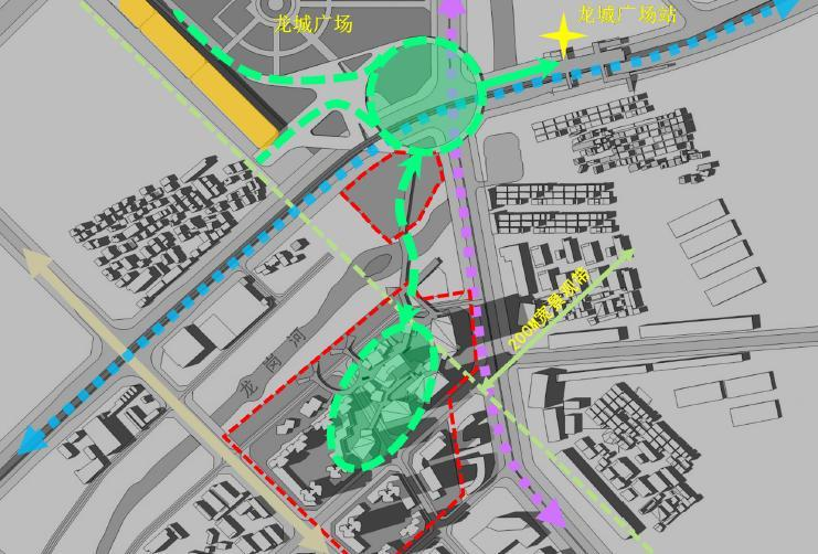 超高层独栋式散点商业办公综合体建筑分析图