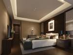 现代宁静卧室3D模型下载