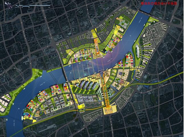 上海世博会规划设计方案文本-总平面图
