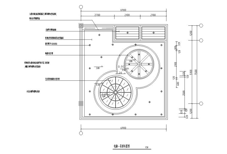 [广西]梧州大学食堂室内装修施工图