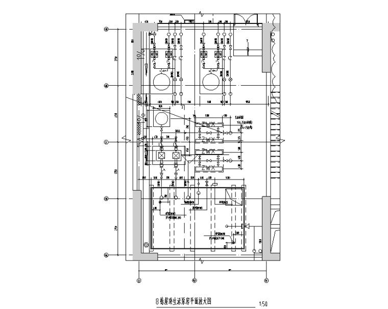 生活泵房平面布置图