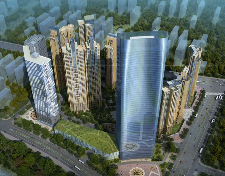 [湖南]长沙保利南湖路塔楼综合体及居住小区规划设计方案文本(PDF)