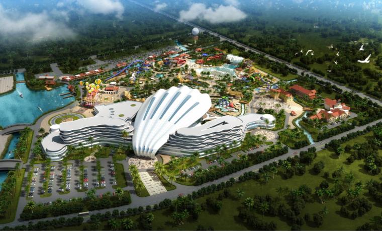 [江苏]现代风格贝壳造型城市中央休闲娱乐区建筑设计方案文本
