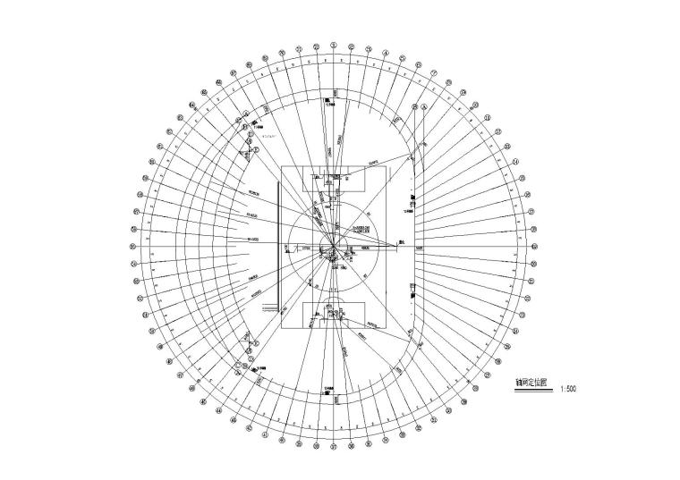 框剪结构学校体育场全套施工图(含建筑、结构、水电暖)