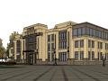 11套ARTDECO风格-售楼处建筑su模型-通洋售楼处项目