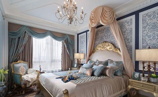 欧式风格别墅卧室装修效果图|美墅设计