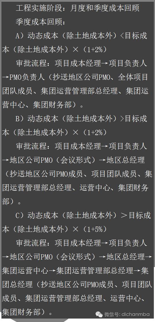 干货!中海•万科•绿城•龙湖四大房企成本管理模式大PK_7