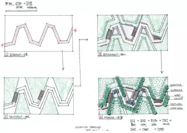 [考研干货]70张景观手绘快题学习_78