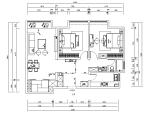 全套欧式风格样板间施工图(含效果图)